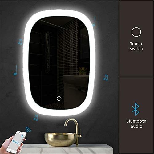 Goodyo Mirror 22x32H inches LED Mirror Illuminating Bathroom Vanity Mirror Wall Mounted Home Decoration Oval ()
