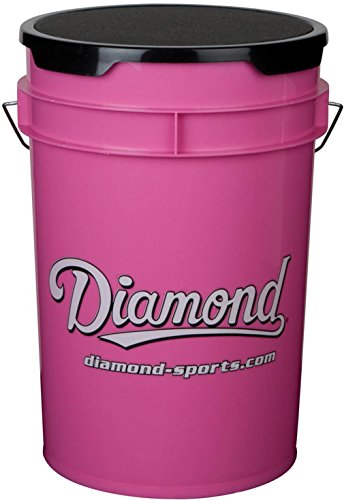 Sport Bucket Seat (Diamond 6-Gallon Ball Bucket with Lid, Pink)