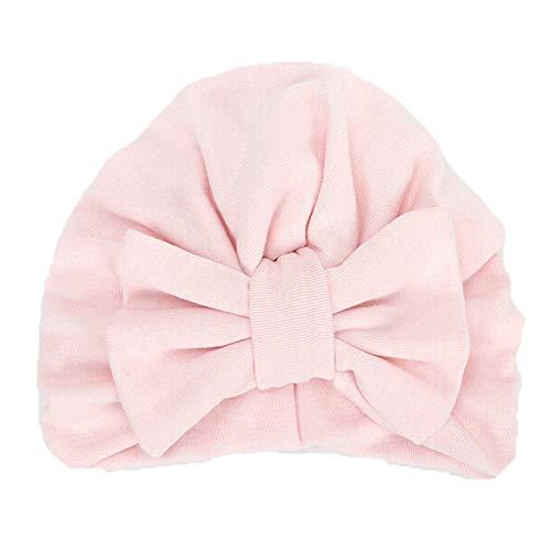 Baby Winter Warm Hat, Fheaven Newborn Girls Boys Big Bowknot Sleep Cap Headwear Hat Cap (Pink)