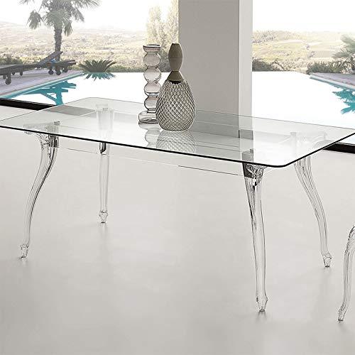 M-029 Mesa de Comedor de Cristal Design Charlyne: Amazon.es: Hogar