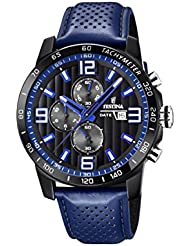 Mens Watch Festina - F20339/4 - Chronograph - Date - Blue and Black