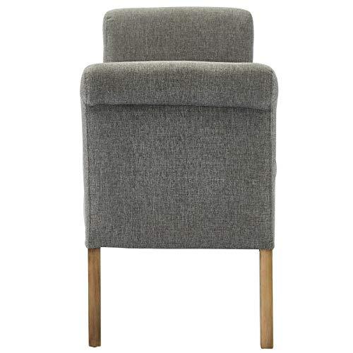 Amazon.com: Estonia - Banco tapizado de tela moderna y de ...