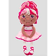 Flip Zabrina Ballerina (Tan) 2-in-1 Plush Doll by Jay at Play – Perfect Gift – Soft & Squeezable Toy Instantly Switches from 12in Baby to 18in Big Girl Surprise