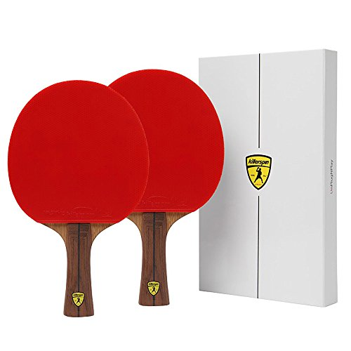 Killerspin JET800 SPEED N1 Table Tennis Paddles - Double Pack of Paddles with Stylish Wooden Side tape and High Tension Nitrix 4Z Rubber Packed in Designed Memory Books by Killerspin