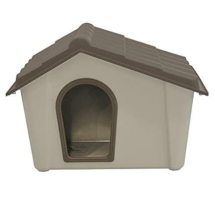 Caseta para perro de resina Pardo y beige 57x 39 ...