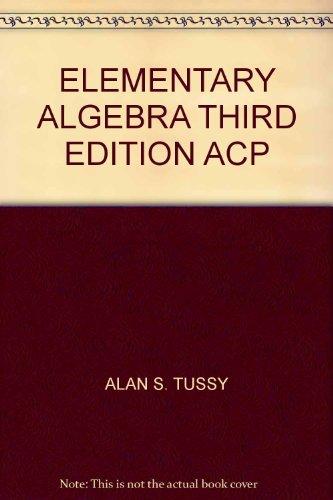 ELEMENTARY ALGEBRA THIRD EDITION ACP