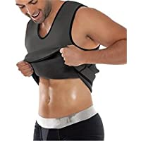 Niyatree Mens Body Shaper Vest AB Wear Hot Sweater Weight Loss Neoprene Sauna Shirt Body Athletic Suit For Slimming Gray Size - S