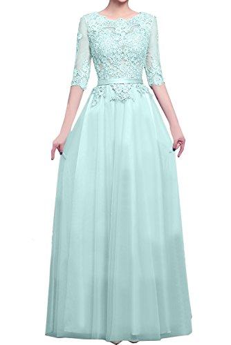 Topkleider azul Vestido trapecio celeste para mujer 161ry7Cwq