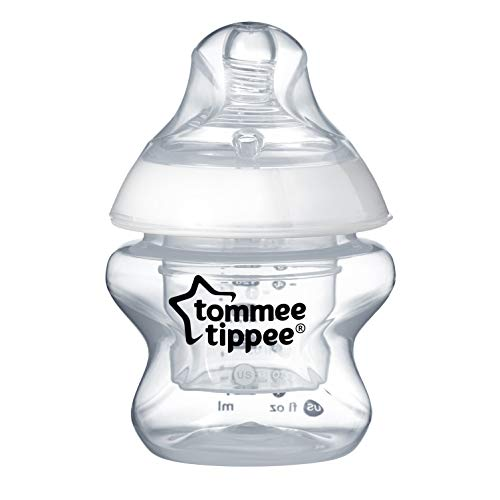 Tommee Tippee Closer To Nature First Feed Baby Bottle, Extra Slow Flow, 5 Ounce, 1 Count