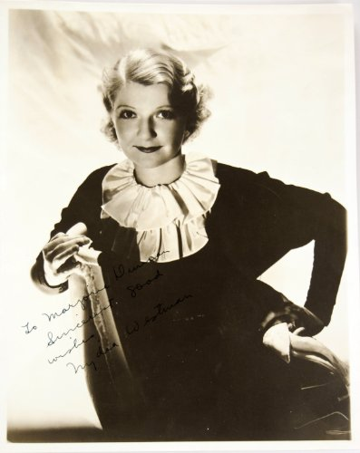 1902 One Penny (1930's - Nydia Westman Autographed Approx 8x10 Photo - Inscribed - Signed in Fountain Pen - Born 1902 / Died 1970 - 100 Films: Little Women / Pennies From Heaven)