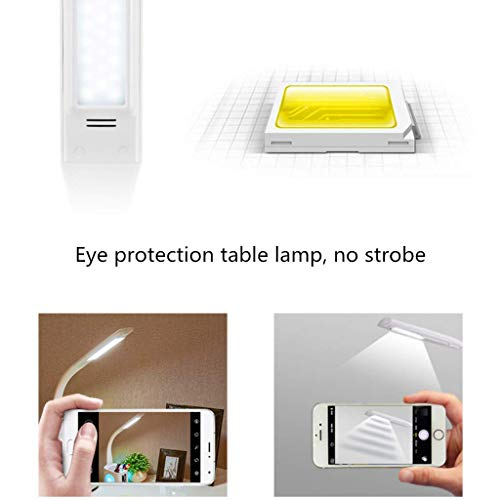 MRXUE Table Lamp Pen Holder Colorful Desk Lamp Screen with Date Time Alarm Clock Temperature Touch Control Eye-Care USB Charger Port Phone Charging by MRXUE (Image #6)