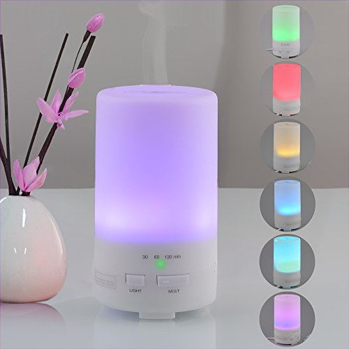 USB Essential Oil Diffuser, InnoGear® 50ml Computer Portable Mini Ultrasonic Cool Mist Aroma Humidifier with Color LED Lights Changing and 3 Timer Settings for Computer Car Home Bedroom