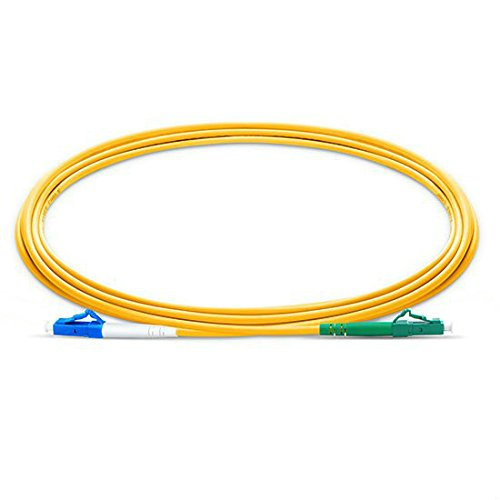 100pcs/bag 3m (9.84ft) LC/UPC-LC/APC Simplex 2.0mm Single Mode Fiber Optic Patch Cord, Fiber Optic Patch Cord, FTTH Cable