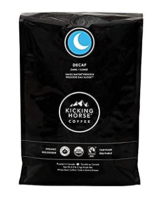 Kicking Horse Coffee, Decaf, Swiss Water Process, Dark Roast, Whole Bean, 2.2 Pound - Certified Organic, Fairtrade, Kosher Coffee, 35.2 Ounce by Kicking Horse Coffee