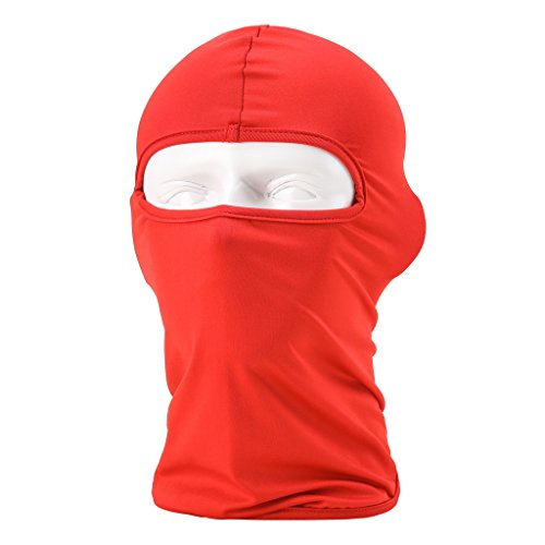 Maoko Motorcycle Outdoor Sports Hood Full Balaclava Windproof- Airsoft Riding Face Mask Hat Red (Best Ironman Costume)