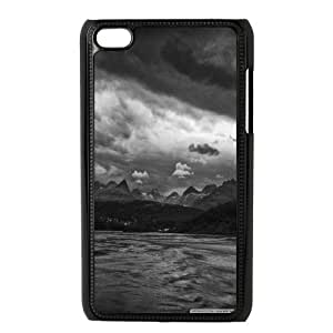 Bloomingbluerose Stormy Night Ipod Touch 4 Case, {Black}