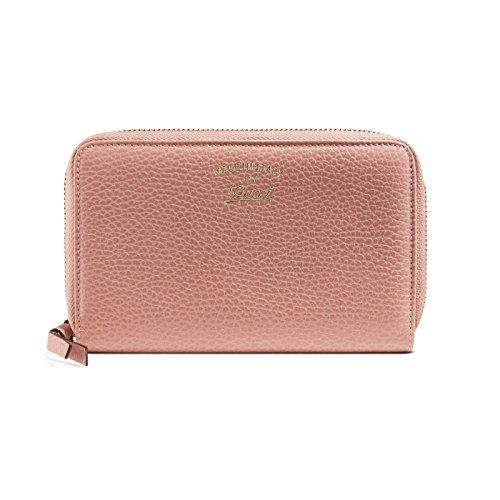 78009896f40e Gucci Women's Soft Pink Leather Swing Zip Around Wallet. Tap to expand