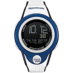 Reebok Pump InstaPump Digital Men's Chrono Watch Blue White and Black RC-PIP-G9-PLPW-BW