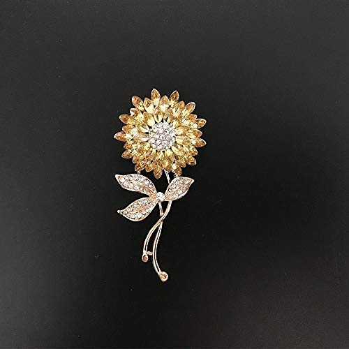 (Sunflower Plant For Women Brooch Pin Clothes Accessories Lapel Pin Jewelry)