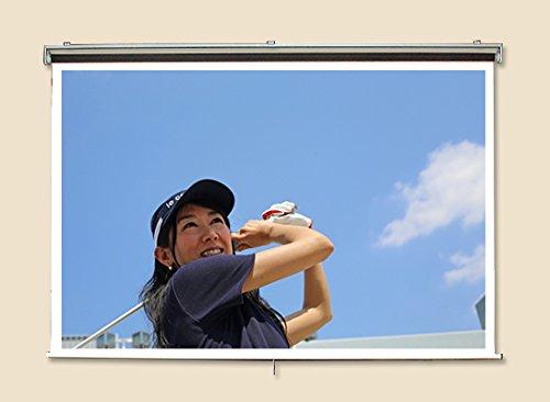プロジェクタースクリーン 60インチ(4:3) ハイビジョン対応 スプリング巻上げ式 日本製 SR-HS60 B01A86PEI8