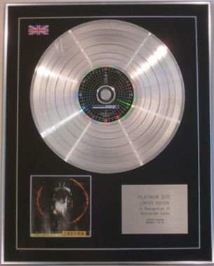 Platinum Wall Cross - ENIGMA 2 - Limited Edition CD Platinum Disc - THE CROSS OF CHANGES