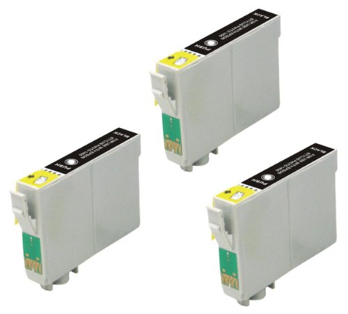 3 Pack Elite Supplies ® Remanufactured Inkjet Cartridge Replacement for #99 #98 T098 T099 T0981 T0991, Epson T098120 Black, Works Epson Artisan 700, Artisan 710, Artisan 725, Artisan 730, Artisan 800, Artisan 810, Artisan 835, Artisan 837 (3 Black)