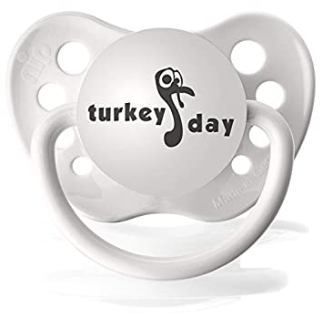Amazon.com: Ulubulu UNI-SEX bebé Turquía Day Funny Chupete: Baby