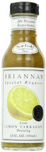 Briannas Dressing, Lemon Tarragon, 12 Ounce (Pack of 4)