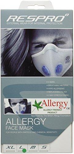 RESPRO allergy model ultralight polyester aero / allergy mask White L by RESPRO