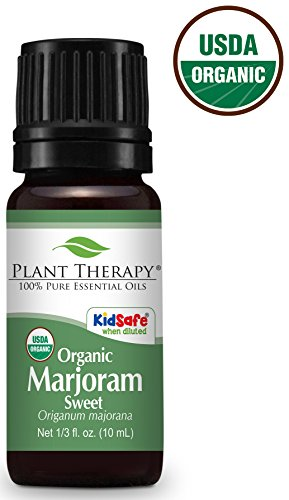 Plant Therapy Marjoram Organic Essential Oil 10 mL (1/3 oz) 100% Pure, Undiluted, Therapeutic Grade ()