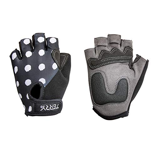 Terry T-Gloves LTD Women's Specific Padded Insulated Fingerless Cycling Gloves with Gel Padding Ergonomic Ulnar Nerve Relief Ladies Half Finger Breathable Mesh Bike Gloves - Dots - - Gloves Hand Specific