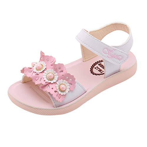 SUNyongsh Fashion Child Flower Sandals, Toddler Infant Kids Baby Girls Single Princess Beach Shoes White