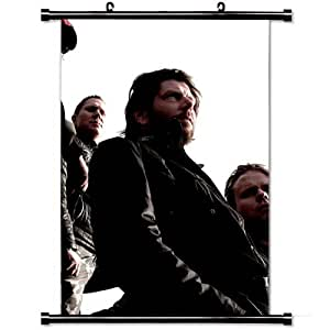 Home Decor Art Movie Poster with Machinae Supremacy Band Members Outdoor Sun Wall Scroll Poster Fabric Painting 23.6 X 35.4 Inch (60cm X 90 cm)