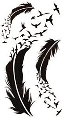 Genérico 1 tabla tatuaje cuerpo adhesivo plumas & golondrinas ...