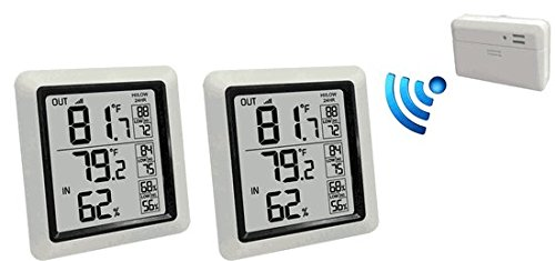 - Ambient Weather WS-0270-2-KIT Dual Zone Wireless Outdoor Thermometer with Indoor Humidity WS-0270-2