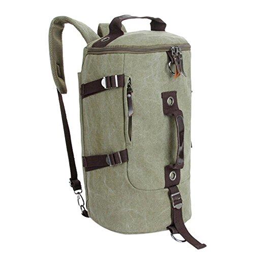 Sonnena - Bolso mochila  de Lona para mujer Rosa rosa Army Green