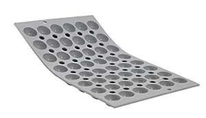 De Buyer 1866.01 Elastomoule - Molde para repostería (48 semiesferas pequeñas, diámetro 2 cm, silicona), color gris
