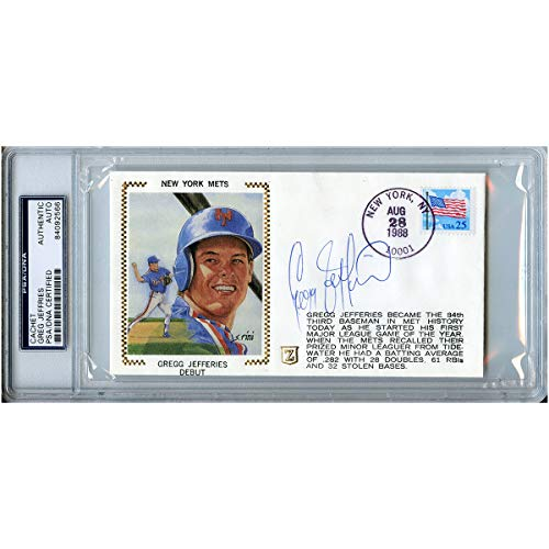 Gregg Jefferies Autographed Signed First Day Cover FDC Cachet PSA/DNA #84092566