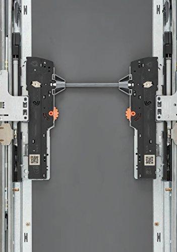 MOVENTO mit TIP-ON Vollauszug f/ür Holzschubkasten 40 kg mit Kupplungen NL=300mm 760H3000T