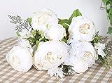 Duovlo Artificial Peony Silk Flowers Fake Flowers