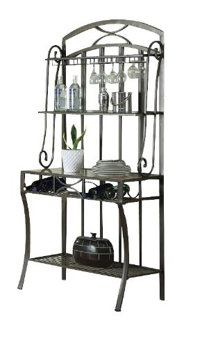 Acme 70059 Val Faux Marble Top Baker's Rack