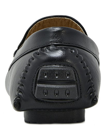 BRUNO MARC NEW YORK Men's PHILIPE-02 Black Penny Loafers Moccasins Shoes Size 7.5 M US by BRUNO MARC NEW YORK (Image #5)