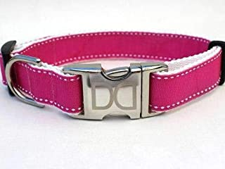 product image for Preppy Custom Dog Collar in Pink M/L