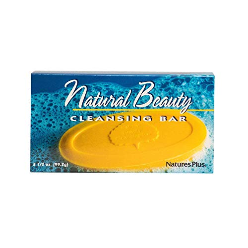 Natures Plus Natural Beauty Cleansing Bar - 500 IU Vitamin E with Allantoin, 3.5 Ounce Bar - Natural Cleanser, Made with Organic Ingredients, Anti Aging - Vegan ()