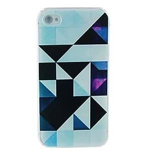 TY-Triángulo repujado de nuevo caso para el iPhone 4/4S