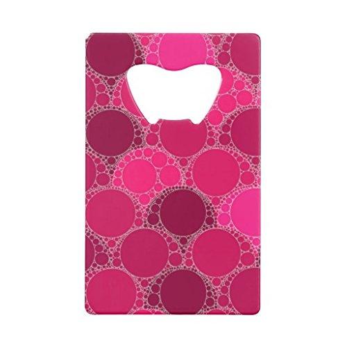 Rikoel Hot Pink Dark Pink Abstract Credit Card Bottle (Dark Pink Bottle Opener)