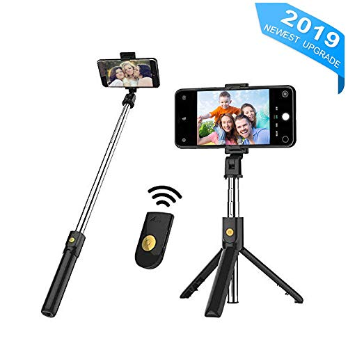 CooElc Bluetooth Selfie Stick, Extendable Phone Tripod Selfie Stick with Wireless Remote for iPhone XR/XS/X/8/8 plus/7/7 Plus, Galaxy S9/S8/S7/S6, iOS, Android, Xiaomi, Huawei