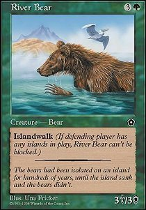 Magic: the Gathering - River Bear - Portal Second Age