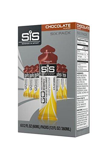 Science in Sport Energy Gel Pack | Chocolate Fudge Flavor Sports Performance & Endurance Gels - 2 Oz. (6 Pack)