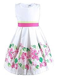 Buenocns Summer Dresses Girls Sleeveless Cotton Round Neck Floral Printed Girls Dresses Rosebush 340 16